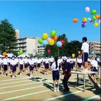 運動会開会式 バルーンリリース